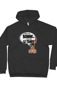 """Black Edition : Punchliness """"J'suis pas bonne"""" - Sweat-shirt à capuche Femme"""