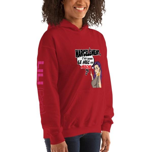 """Punchliness """"Harcèlement"""" - Sweat-shirt à capuche Femme"""