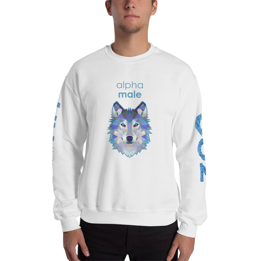 "Zoo ""Loup"" – Sweat-shirt pour Hommes"