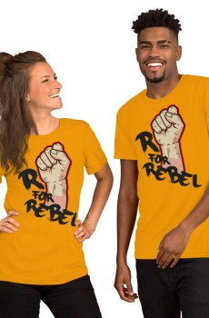 "Handwritings ""R for Rebel"" - T-shirt manches courtes Unisexe"
