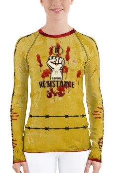 "Handwritings ""R comme Résistance"" - Rashguard Femme"