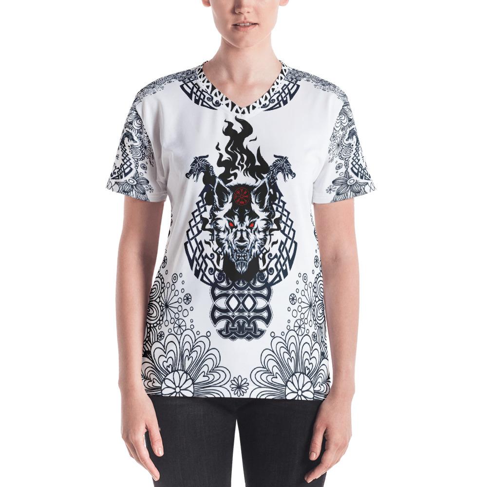 """Fenrir """"Liberte"""" – T-shirt col V Femme"""