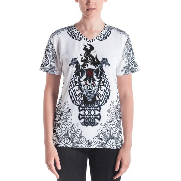 "Fenrir ""Liberté"" - T-shirt col V Femme - 1"