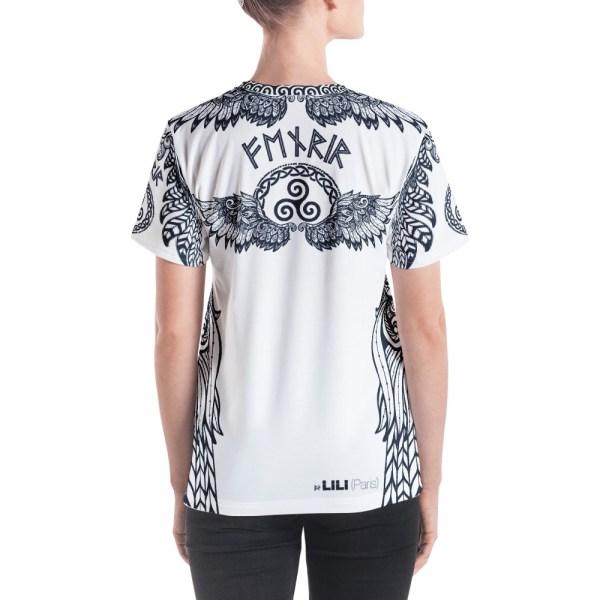 """Fenrir """"Triskell"""" - T-shirt col V Femme"""