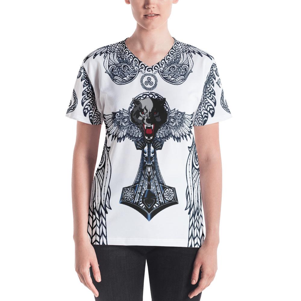 """Fenrir """"Triskell' – T-shirt col V Femme"""
