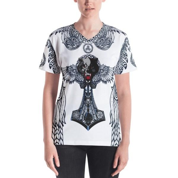 """Fenrir """"Triskell"""" - T-shirt col V Femme - 1"""