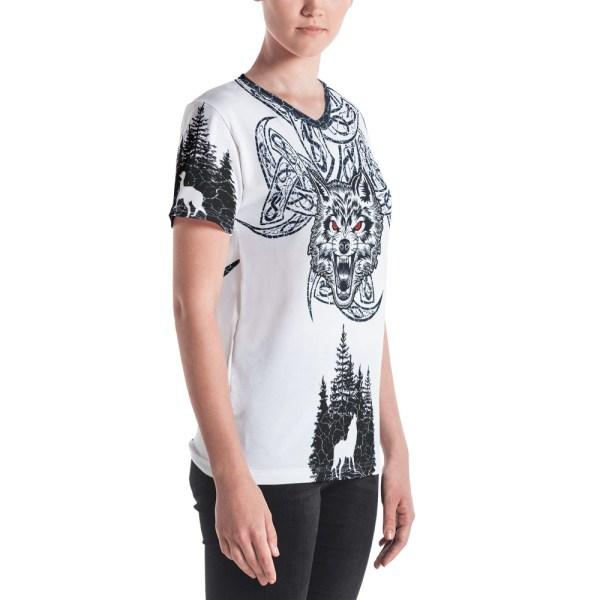 """Fenrir """"Valknut"""" - T-shirt col V Femme"""