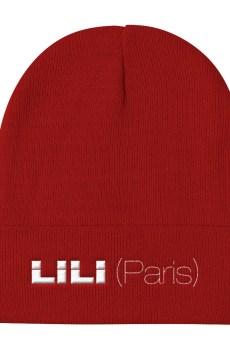 LILI (Paris) Blanc - Bonnet brodé Unisexe