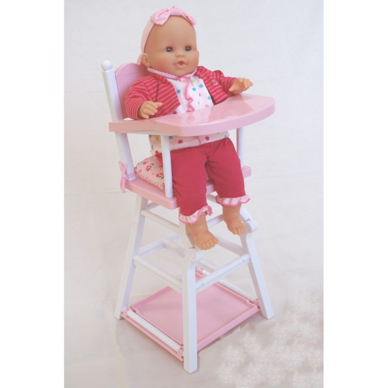 Corolle Floral Pink High Chair with Suce