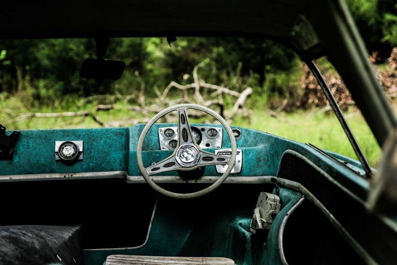 Um volante.