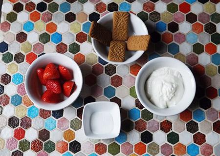ingredient Verrine Fraise Spéculos Fromage blanc