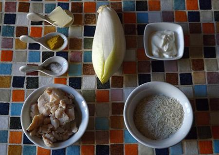 ingrédients Poulet aux endives au curry