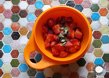 Mélange fraise menthe et citron