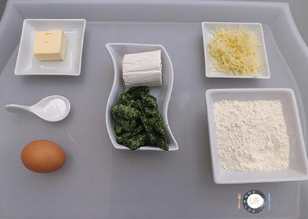 Minis cakes chèvre - épinard ingrédients