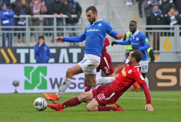 Serdar Dursun, SV Darmstadt 98 - im Spiel gegen Jahn Regensburg