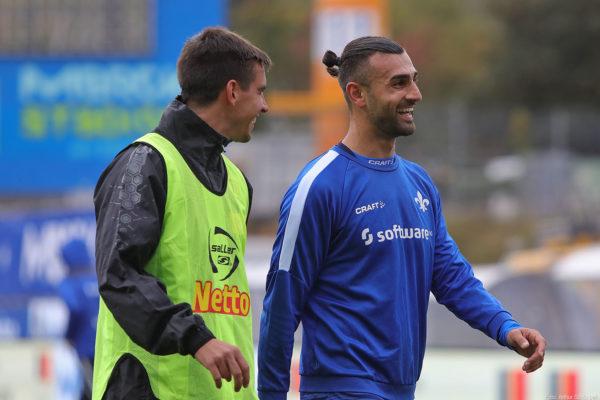 Serdar Dursun (rechts), SV Darmstadt 98 - Jahn Regensburg