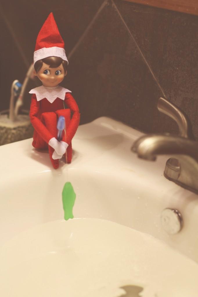 elf on the shelf: fishing
