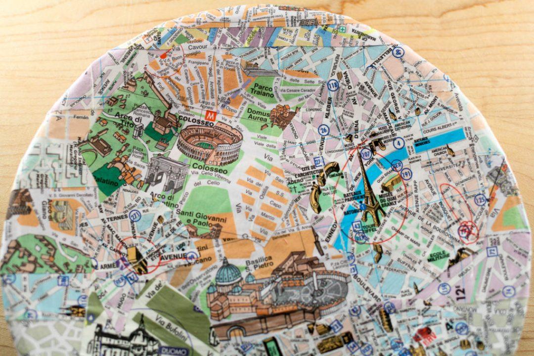 DIY Paper Map Plate