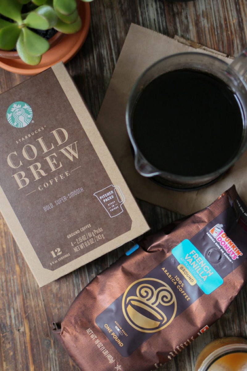 Starbucks and Dunkin Donuts Cold Brew