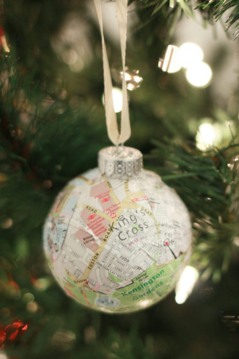 London Map Ornament