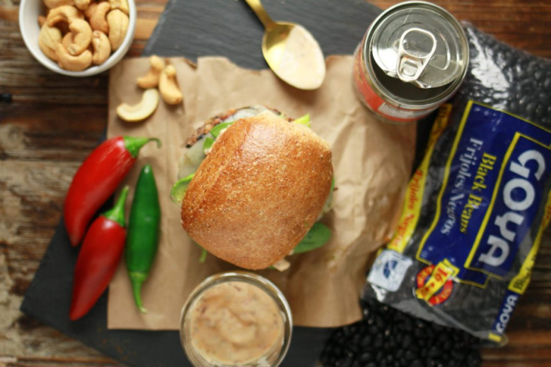 Black Bean Burger with Chipotle Mayo