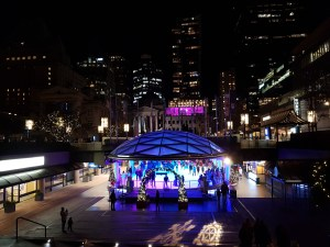 Ice Skating at Robson Square
