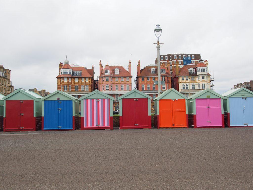 Les cabanes colorées de Brighton