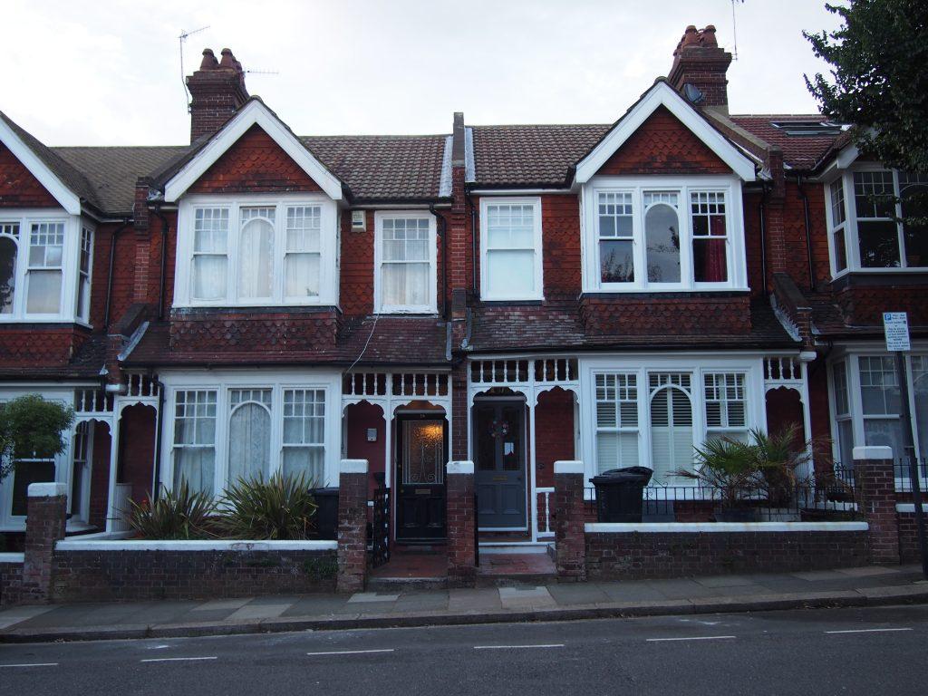 L'architecture des maisons de Brighton