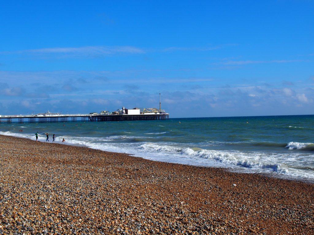 La plage de galets de Brighton