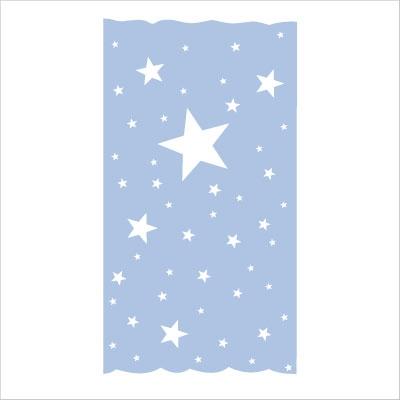 rideau oscar etoiles blanches fond bleu ciel