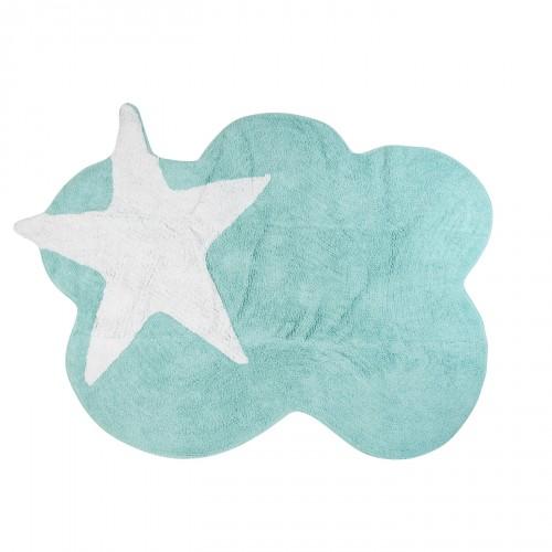 https www lilipouce com tapis enfant nuage menthe et c3 a9toile blanche cadeaux d c3 a9co chambre b c3 a9b c3 a9 enfant html