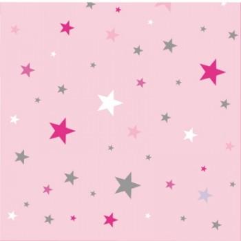 papier peint ciel etoile rose