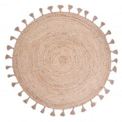 tapis jute rond else naturel de nattiot lili pouce stickers appliques frises tapis luminaires lampes suspensions enfant
