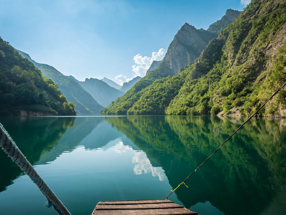 Hidden gems in Europe - Lake Komani, Albania - Best unique places to visit