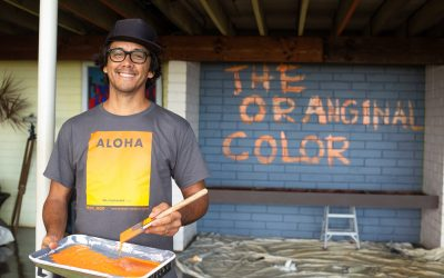 Painting the Wall Orange