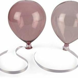 Glasballong med snöre o upphäng