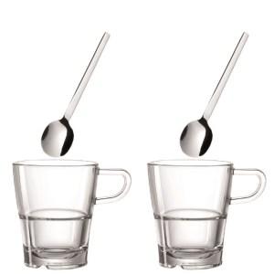 Kaffeset – Kaffekopp och sked x 2
