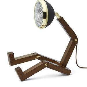 Mr Wattson lampa Mässing / Matt Svart