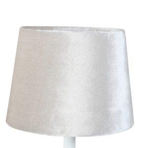 Lampskärm sammet rund 16x20x15cm beige