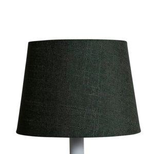 Lampskärm linne rund 16x20x15cm grön