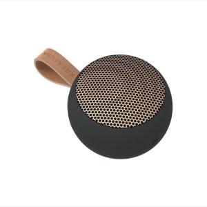 aGO, black w. rose gold grill, Mini Bluetooth-högtalare