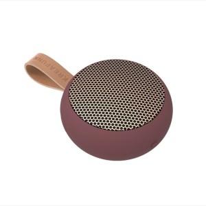 aGO, plum w. rose gold grill, Mini Bluetooth-högtalare