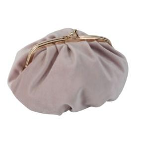 Börs/väska sammet rosa 17×10
