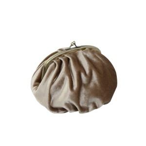 Börs/väska sammet ljusbrun 17×10