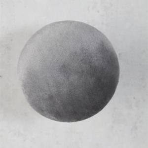 Knopp i sammet grå