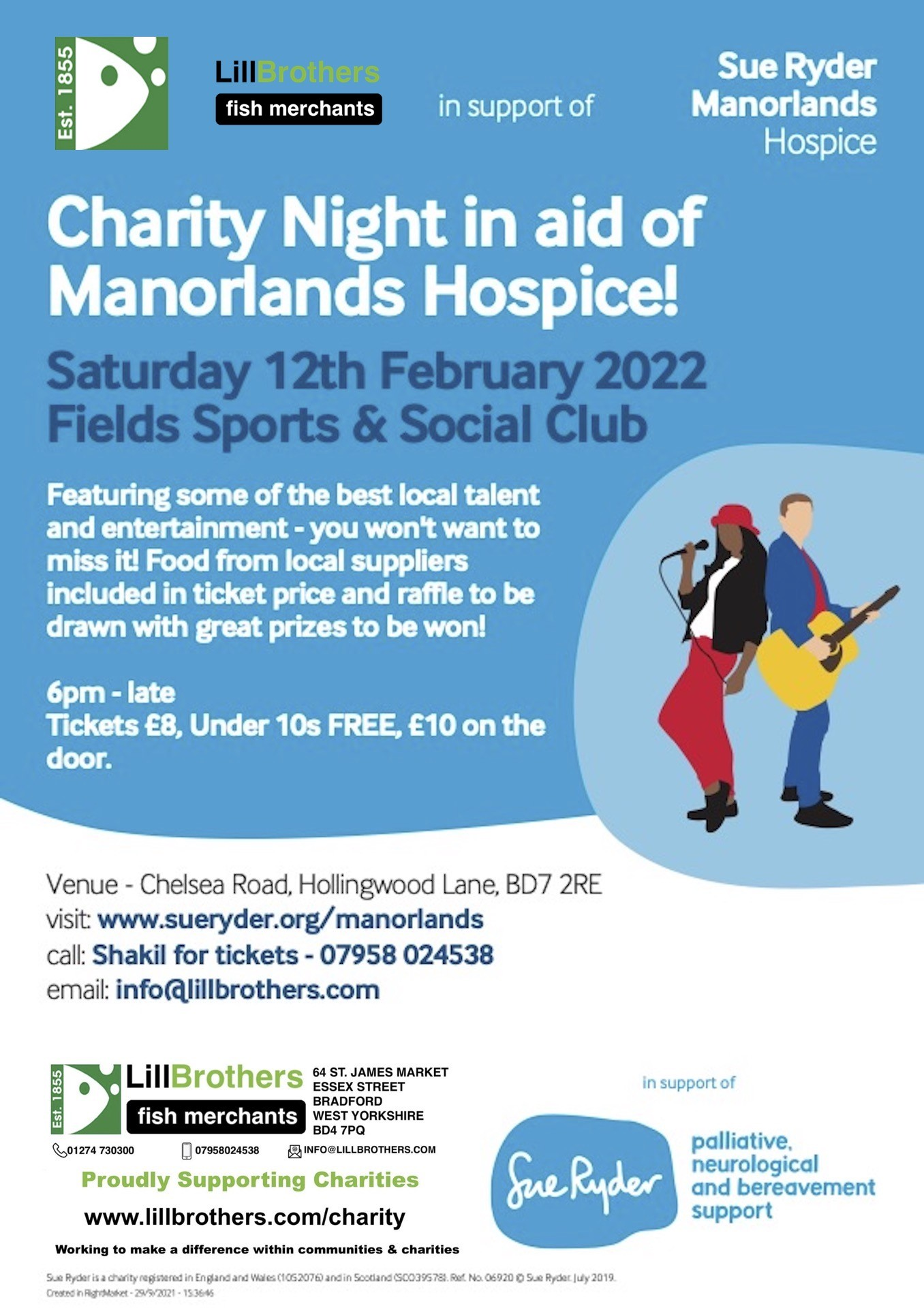 Charity Night 2022 in aid of Sue Ryder Manorlands Hospice