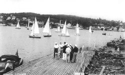 Start på byfjorden i 1950