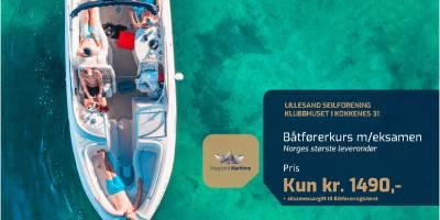 Båtførerprøven hos Lillesand Seilforening – Lørdag 20. juni er full booket