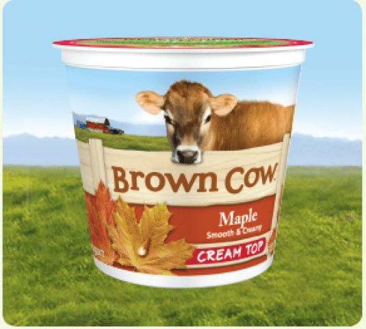 Brown Cow Maple Cream Top