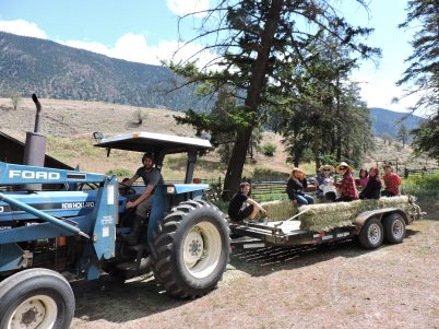 Sk'il Mountain Community School Tour at Spray Creek Ranch